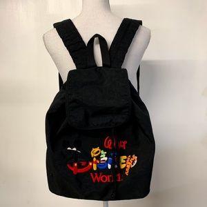 VTG Walt Disney World Embroidered 90s Backpack